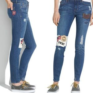 Madewell Patchwork Edition Skinny Jean distressed